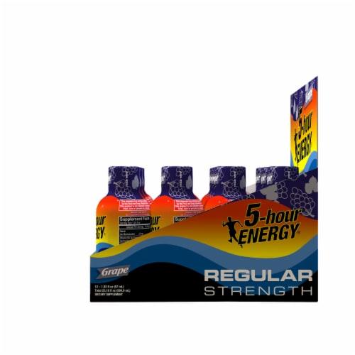 5-Hour Energy® Regular Strength Grape Energy Drink Supplement Perspective: right