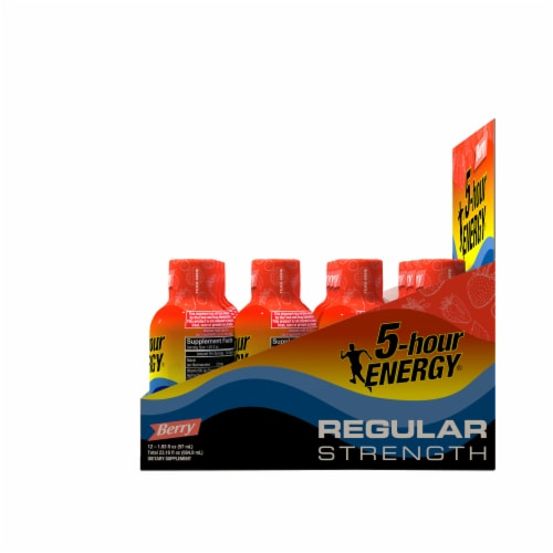 5-Hour Energy Berry Energy Drink Supplement Perspective: right