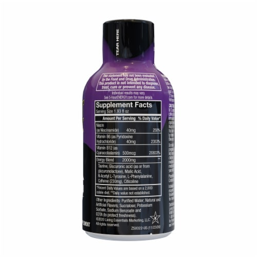 5-Hour Energy Grape Extra Strength Shot Perspective: right