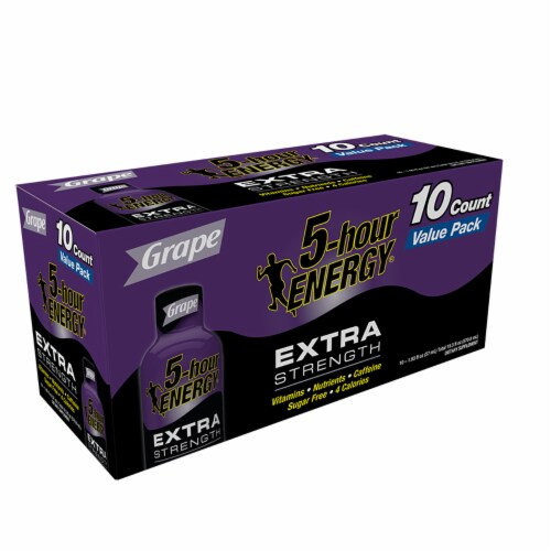 5-Hour Energy Extra Strength Grape Energy Shots Perspective: right