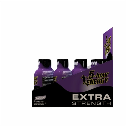 5-Hour Energy Extra Strength Grape Energy Drink Perspective: right