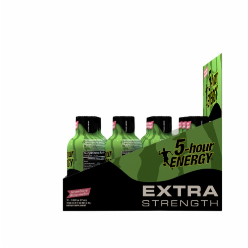 5-Hour Energy Extra Strength Strawberry Watermelon Supplements Perspective: right
