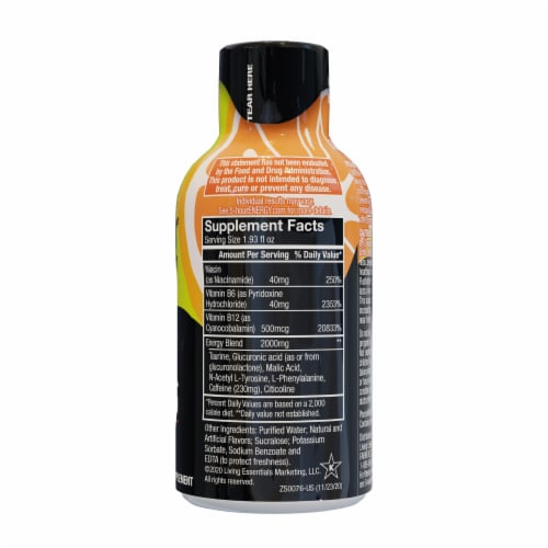 5-Hour Energy Extra Strength Orange Shot Perspective: right