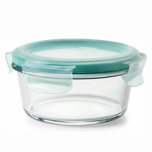 OXO Good Grips 16 Piece Glass Food Storage Round Square Container Set with Lids Perspective: right