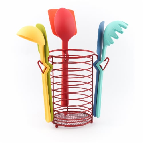 Fiesta Silicone Utensil Set & Caddy Perspective: right