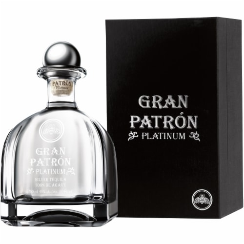 Gran Patron Platinum Silver Tequila Perspective: right