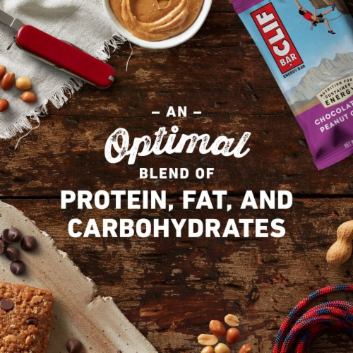 Clif Bar Chocolate Chip Peanut Crunch Energy Bar Perspective: right