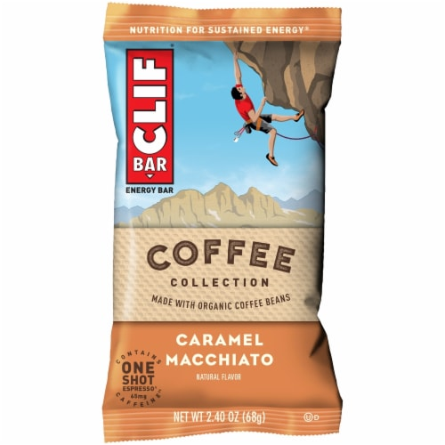 Clif Bar Coffee Collection Caramel Macchiato Energy Bars Perspective: right