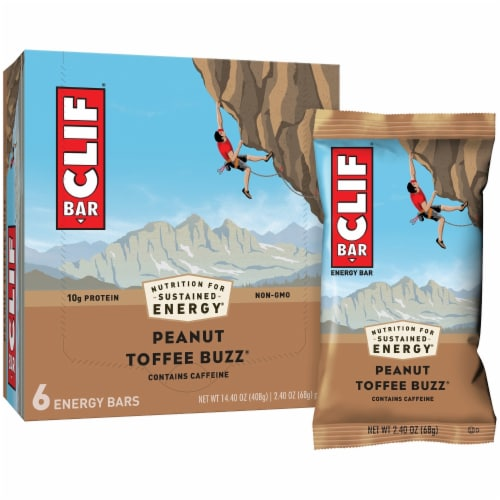Clif Bar Peanut Toffee Buzz Energy Bars Perspective: right