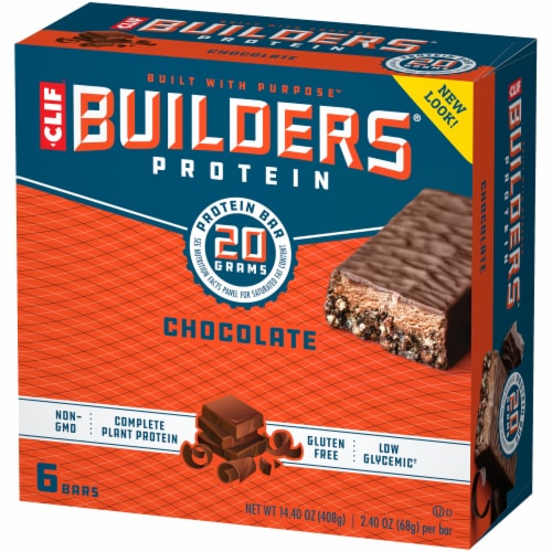 Clif Builders Chocolate Plant Based Protein Meal Bars Perspective: right