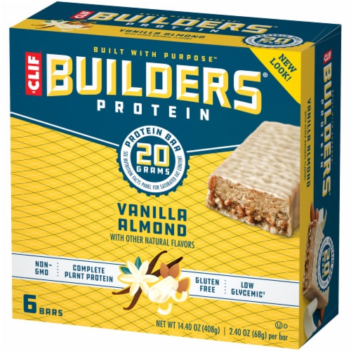 Clif Bar Builders Vanilla Almond Protein Bars Perspective: right