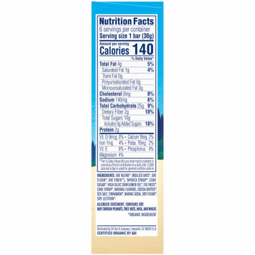 Clif Kid Z Bar Cinnamon Roll Energy Snack Bars Perspective: right