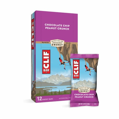 Clif Bar Chocolate Chip Peanut Crunch Energy Bars Perspective: right