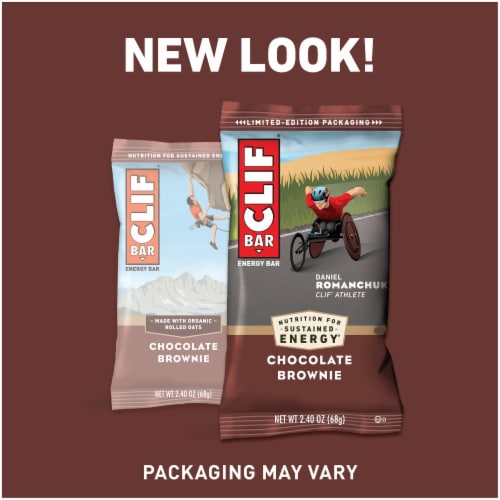 Clif Bar Chocolate Brownie Energy Bars Perspective: right