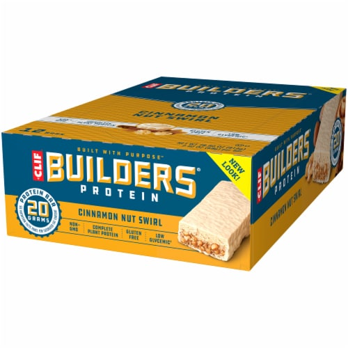 Clif Bar Builders Cinnamon Nut Swirl Protein Bars Perspective: right