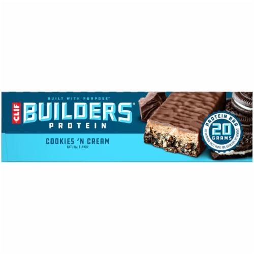 Clif Bar Builders Cookies 'N Cream Protein Bars Perspective: right