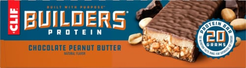 Clif Bar Builders Chocolate Peanut Butter Protein Bars Perspective: right