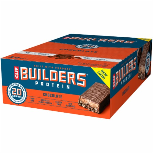 Clif Bar Builders Chocolate Protein Meal Bars Perspective: right