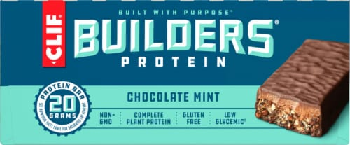 Clif Bar Builders Chocolate Mint Protein Meal Bars Perspective: right