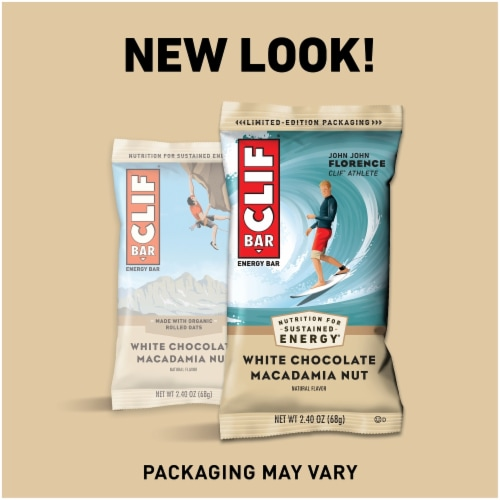 Clif Bar White Chocolate Macadamia Nut Energy Bars Perspective: right