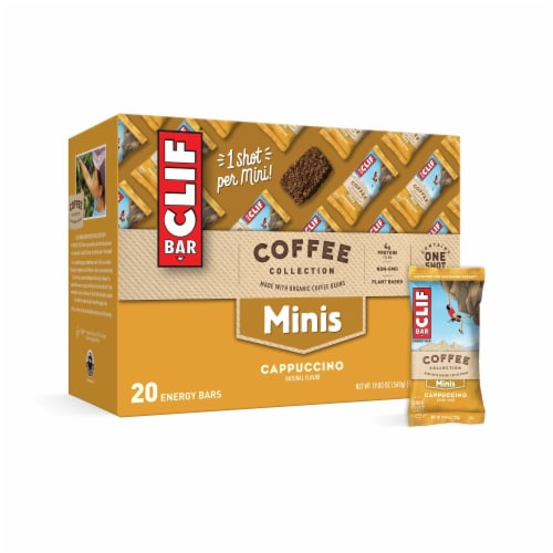 Clif Bar Coffee Collection Cappucino Mini Energy Bars Perspective: right