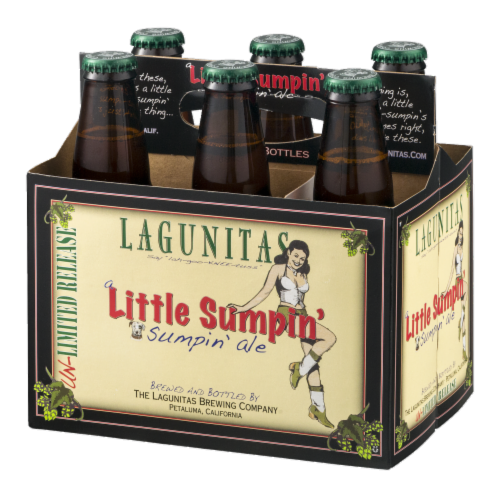 Lagunitas Brewing Company a Little Sumpin' Sumpin' Ale Perspective: right