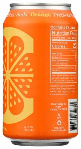 poppi Orange Prebiotic Soda Perspective: right