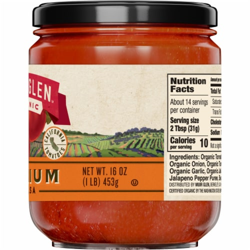 Muir Glen Organic Medium Salsa Perspective: right