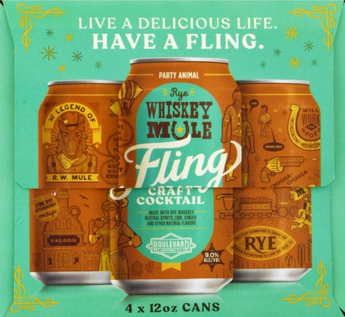 Boulevard Brewing Co. Rye Whiskey Mule Fling Craft Cocktail Perspective: right