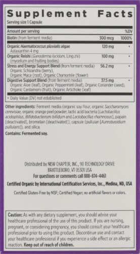 New Chapter Hair Skin & Nails Vegetarian Tablets Perspective: right