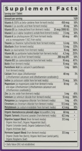 New Chapter Every Woman's One Daily 55 + Multi Vegetarian Tablets Perspective: right