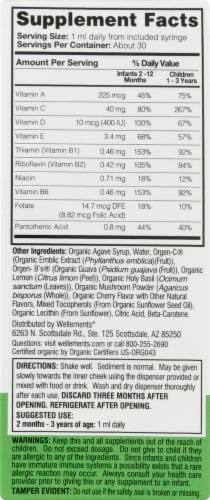 Wellements Organic Multi-Vitamin Cherry Flavor Drops Perspective: right