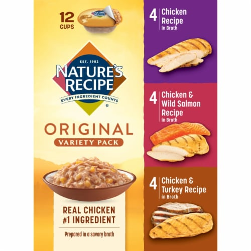 Nature's Recipe Original Variety Pack Dog Food Perspective: right