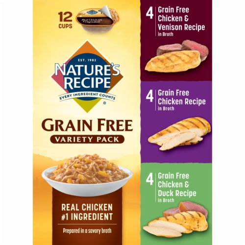 Nature's Recipe Grain Free Variety Pack Dog Food 12 Count Perspective: right