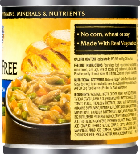 Nature's Recipe Grain Free Chicken & Turkey Stew Wet Dog Food Perspective: right