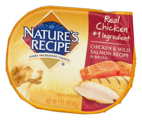 Nature's Recipe Chicken & Wild Salmon in Broth Wet Dog Food Perspective: right