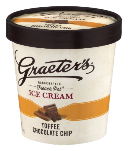 Graeter's Toffee Chocolate Chip Ice Cream Perspective: right