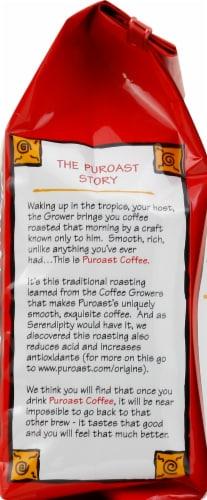 Puroast Low-Acid House Blend Ground Coffee Perspective: right
