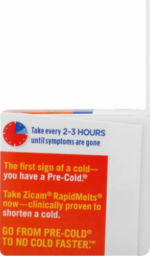 Zicam Cold Remedy Cherry Flavor RapidMelts Quick Dissolve Tablets 25 Count Perspective: right