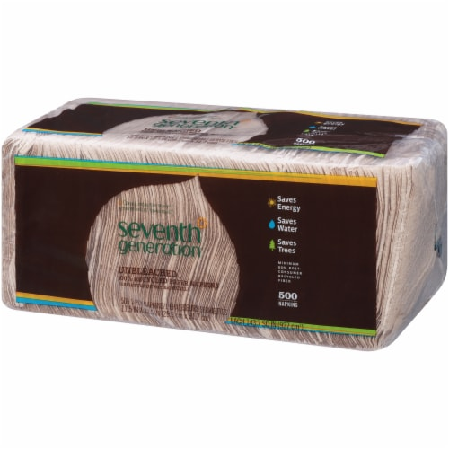 Seventh Generation Unbleached Recycled Paper Lunch Napkins Jumbo Pack Perspective: right