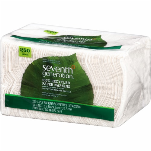 Seventh Generation 100% Recycled Paper Napkins Perspective: right