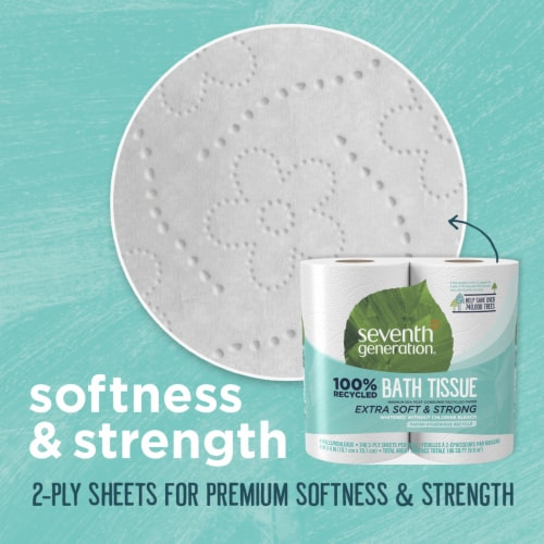Seventh Generation 100% Recycled Paper Extra Soft & Strong Bath Tissue Perspective: right
