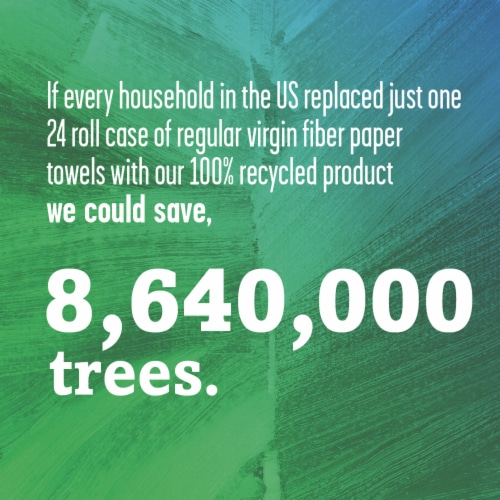 Seventh Generation Natural Unbleached Recycled Paper Towels Perspective: right