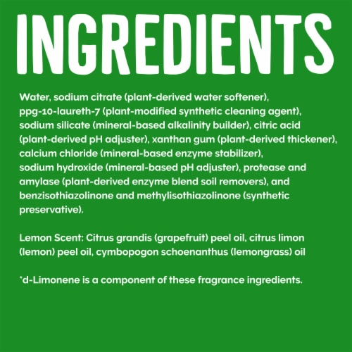 Seventh Generation Lemon Scent Dishwasher Detergent Gel Perspective: right
