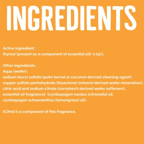 Seventh Generation Lemongrass Citrus Scent Disinfecting Multi-Surface Cleaner Perspective: right