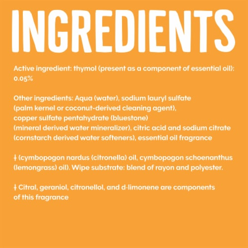 Seventh Generation® Lemongrass Citrus Scent Disinfecting Wipes Perspective: right