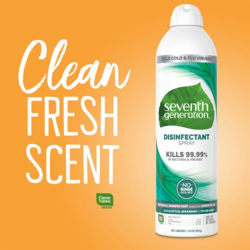 Seventh Generation Eucalyptus Spearmint & Thyme Disinfectant Spray Perspective: right