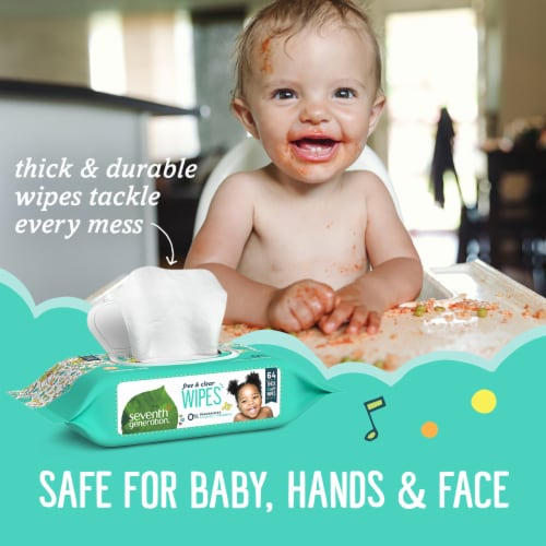 Seventh Generation Free & Clear Baby Wipes Perspective: right