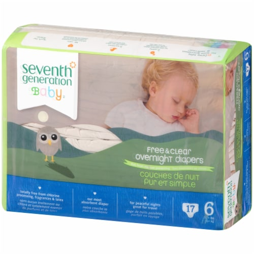 Seventh Generation Free & Clear Size 6 Overnight Diapers Perspective: right
