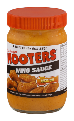 Hooters Medium Wing Sauce Perspective: right